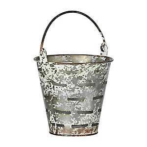 Olive Iron Tabletop Bucket