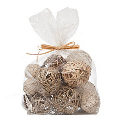 Natural and Platinum Mix Dried Orb Set