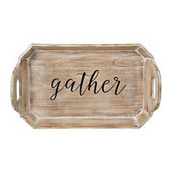 Gather Natural Wood Tray