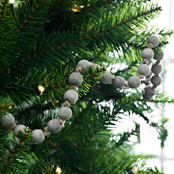 Gray Wooden Bead Garland