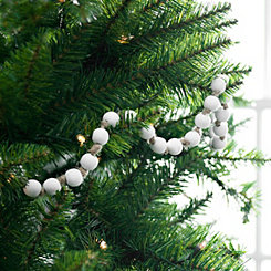 White Wooden Bead Garland