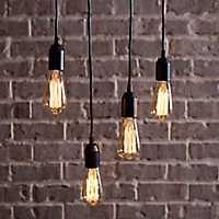 Bowman Single Cord Edison Bulb Pendant Lamp