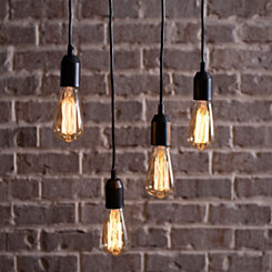 Bowman Single Cord Edison Bulb Pendant Lamp