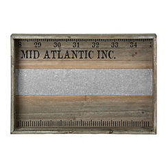 Wood and Metal Mid Atlantic Ruler Tray