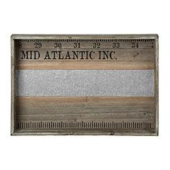 Wood and Metal Mid Atlantic Ruler Tray