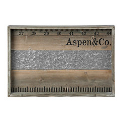 Wood and Metal Aspen Ruler Tray