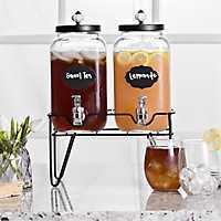 Black Fancy Beverage Dispensers, Set of 2