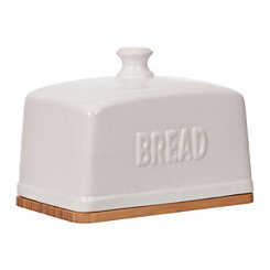 White Ceramic Bread Box
