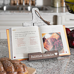 Two-Tone Homemade Cookbook Holder