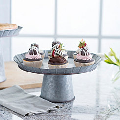 Small Galvanized Metal Cake Stand