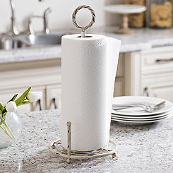 Distressed Cream Paper Towel Holder