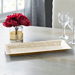 Gold Rectangular Glitter Tray