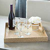 Gold Glitter Square Tray