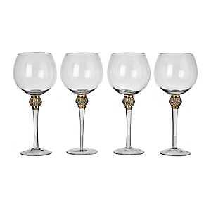 Cellini Gold Wine Glasses, Set of 4
