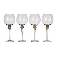Cellini Gold Wine Glasses, Set of 4