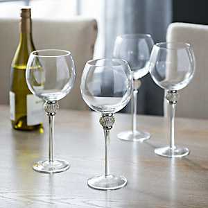 Cellini Silver Wine Glasses, Set of 4