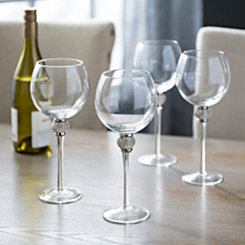Cellini Silver Wine Glasses, Set of 4