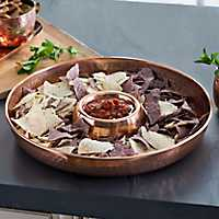 Hammered Copper Chip & Dip Tray