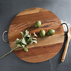 Round Reclaimed Wood Tray