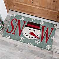 Gray Snow Doormat