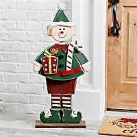 Wooden Elf Outdoor Statue
