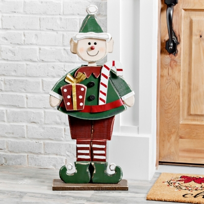 Wooden Elf Outdoor Statue