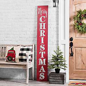 Merry Christmas Porch Board Plaque