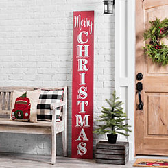 Merry Christmas Porch Board Plaque
