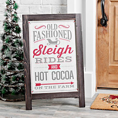 Old Fashioned Christmas Porch Easel