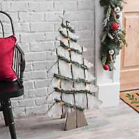 Wooden Christmas Tree with Lights
