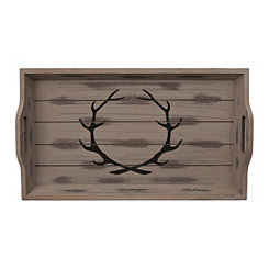 Rustic Brown Antler Tray