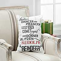 Reindeer Names Accent Pillow