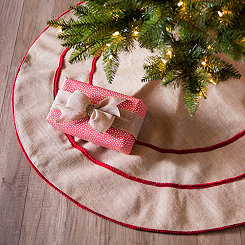 Jute Pom Bordered Tree Skirt