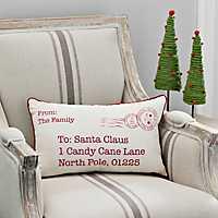 Postcard To Santa Accent Pillow