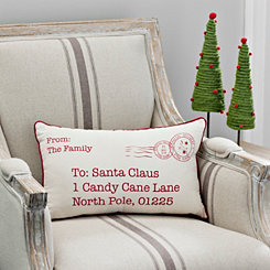 Postcard To Santa Accent Pillow