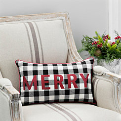 Merry Buffalo Check Accent Pillow