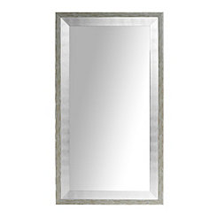 Whitewashed and Silver Foil Wall Mirror