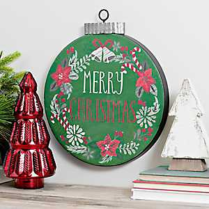 Green Merry Christmas Wall Ornament