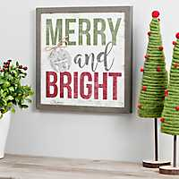 Merry and Bright Framed Wall Plaque