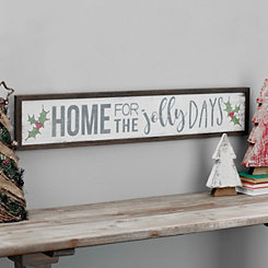 Home For The Jolly Days Framed Wall Plaque