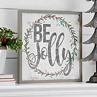 Pre-Lit Be Jolly Framed Wall Plaque