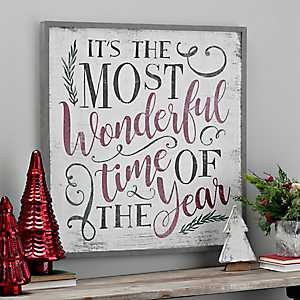 Most Wonderful Time Of The Year Framed Wall Plaque