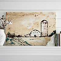 Rustic Barn and Silo Canvas Art Print