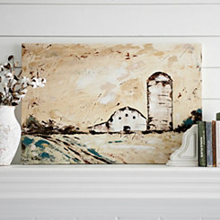 Rustic Barn and Silo Canvas Art Print
