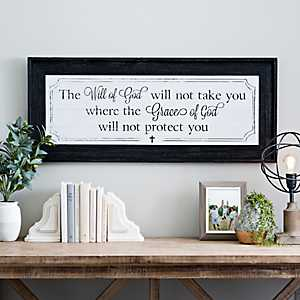 Will of God Beadboard Framed Art Print