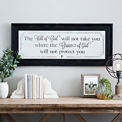 Will of God Beadboard Framed Art Print