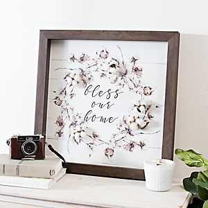 Bless Our Home Cotton Shadowbox