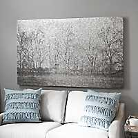 Galvanized Trees Metal Art Print