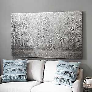 Galvanized Trees Metal Art Print