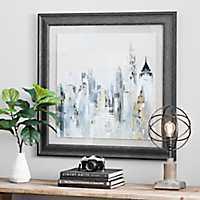 Golden Cityscape Framed Art Print